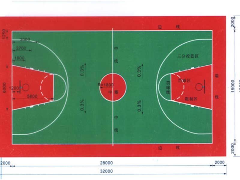 篮球场地平面图纸必选